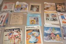 Lot 21 Vintage Barbie Doll Clothes Crafts SEWING PATTERNS