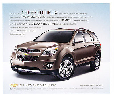 2010 Chevrolet Chevy Equinox Sales Brochure Fact Sheet   eBay