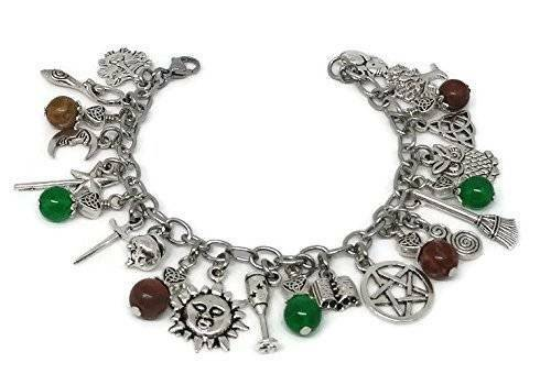 Pagan Ritual Jewelry Witches Charm Bracelet Gift for Wicca
