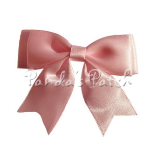 Choose Pack Size and Colour Free P/&P Large 25mm Satin Ribbon Double Bows