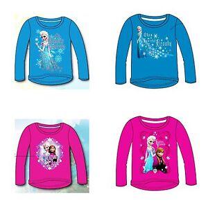 BNWT-Disney-FROZEN-Anna-Elsa-Princess-Girls-Long-Sleeve-Cotton-T-Shirt-2-10-yrs