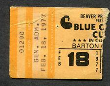 1977 Blue Oyster Cult concert ticket stub Barton Little Rock Spectres Godzilla