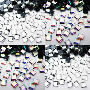 SQUARE-Hotfix-Rhinestones-Crystal-Glass-Gems-Iron-on-Transfer-Glue-Flatback