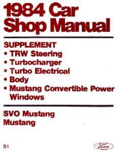 1984-Ford-Mustang-SVO-Shop-Service-Repair-Manual-Supplement