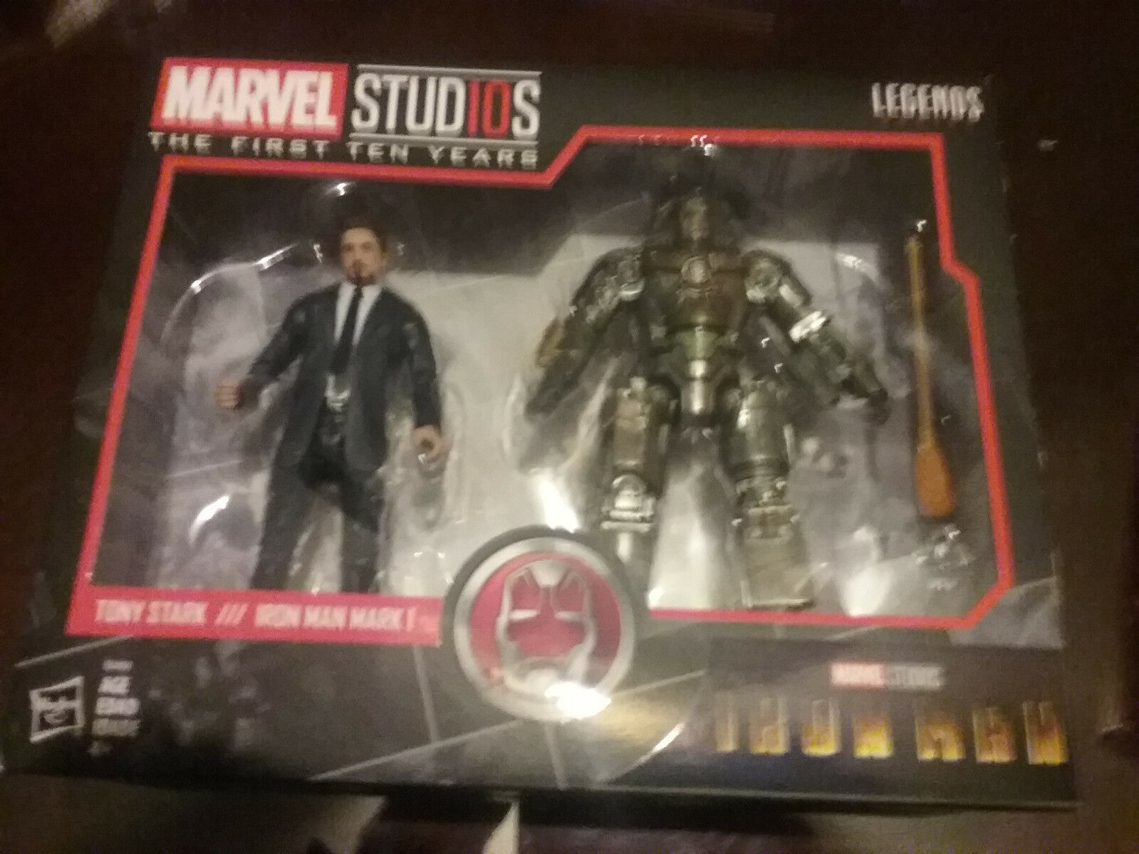 MARVEL STUDIOS First 10 Years Tony Stark & Iron Man Marl 1 Figure Hasbro NEW