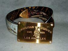 Christian Audigier belt New White & Gold