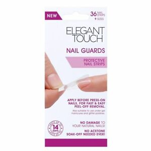 Elegant Touch Nail Guards - 36 Protective Nail Strips in 9 Different Sizes