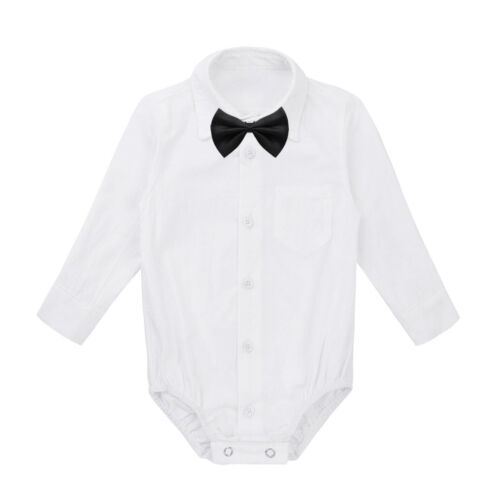 Toddler Kids Baby Boys Gentleman Bowties Jumpsuit Romper+Pants Outfits Clothes
