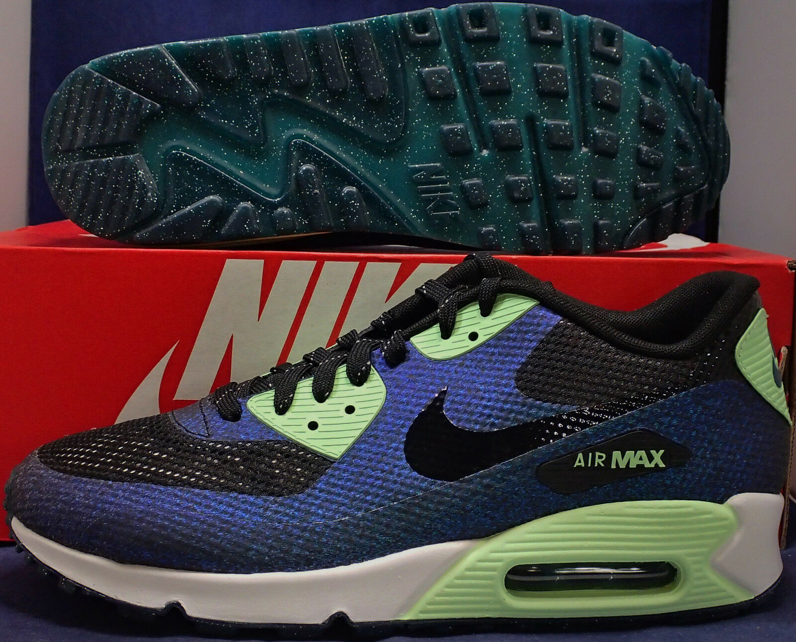 2015 Womens Nike Air Max 90 Hyperfuse World Cup QS Teal SZ 10 ( 811165-001 )
