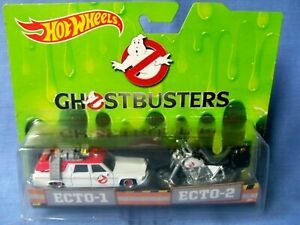 Hot-Wheels-Ghostbusters-1-64-Scale-Diecast-Ecto-1-amp-Ecto-2-Car-amp-Motorbike