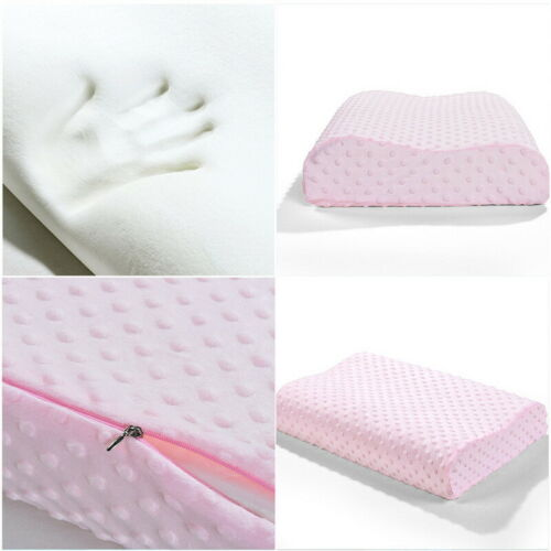 New 50x30x9cm Memory Foam White//Blue//Pink Pillow Case Cushion Cover UK HOT 23