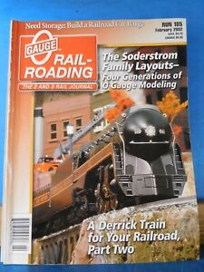 Details about O Gauge Railroading #185 2002 Feb Build a Railroad car barge  Derrick trains pt2