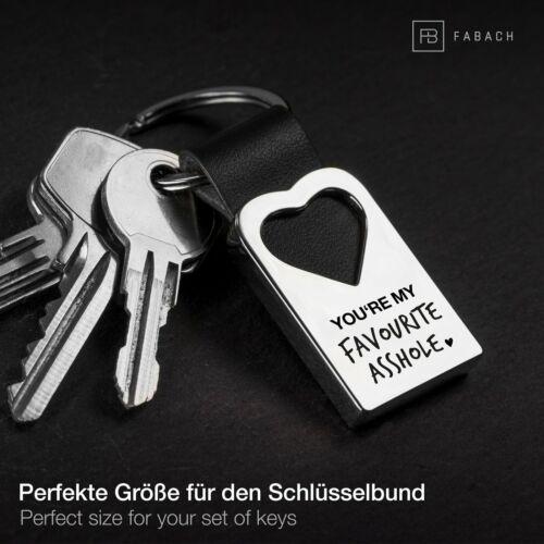 Liebe Schlüsselanhänger Leder mit Herz Pärchen Freundin Geschenk für Partner