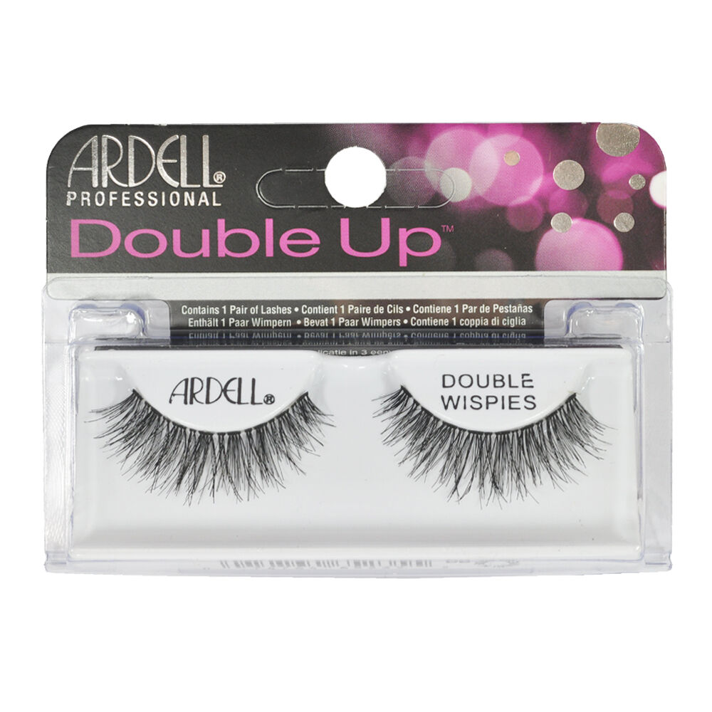 719e55091a4 Details about Ardell Professional Double UP Double Wispies Black False  Eyelashes