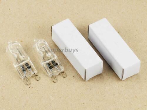 2 x G9 Clear 75W Warm White 120V Halogen Bi-Pin Light Globe Lamp Soft Downlight