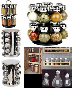 10b4e0632fae Details about Kitchen Storage Jars Dry Food Herb Spice Rack Masala Dabba  Canister Tea Coffee