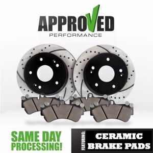 Approved Performance J27242 Performance Drilled//Slotted Brake Rotors and Ceramic Pads Front Kit
