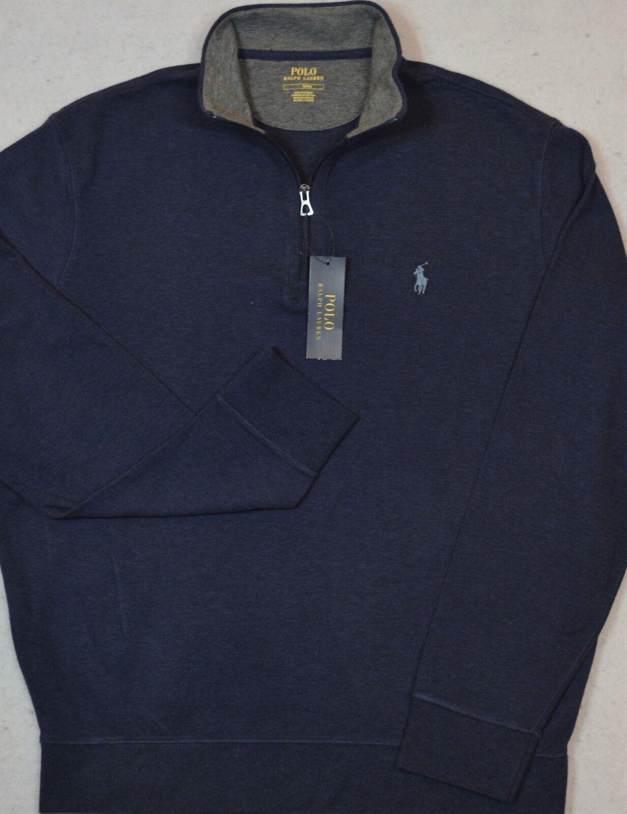 Polo Ralph Lauren Jersey Pullover Navy 1/2 Half-Zip M Medium New NWT