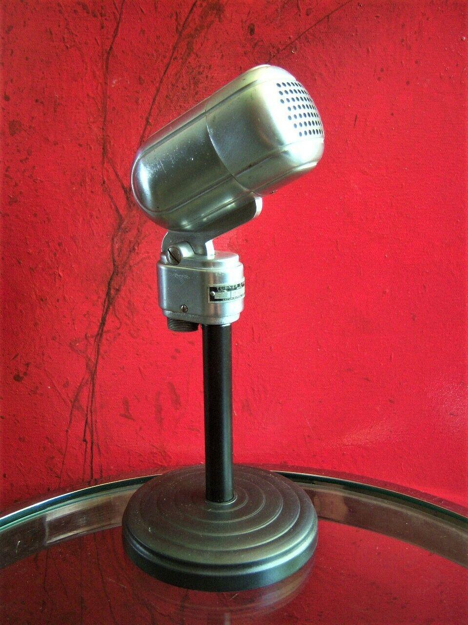 Vintage 591ms Turner 211 Micrófono Dinámico Antiguo con Soporte Prop PanGröße De