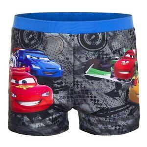 Cars McQueen Badeshorts Disney Pixar Badehose Jungen Kinder Grau 98 - 128 Auto