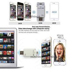 For iPhone 5C 5S 6 Plus 6S i-Flash Drive OTG Device Flash USB Memory Stick 32GB