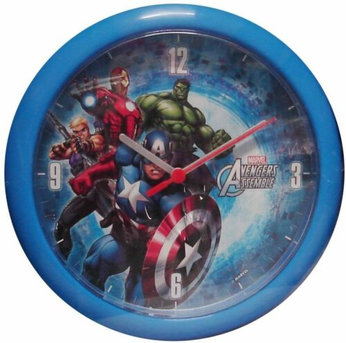 Marvel Avengers Battery Operated Wall Clock Blue