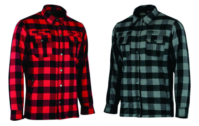 CE Armoured Motorbike Motorcycle Shirt Check Lumberjack Reinforced All Sizes