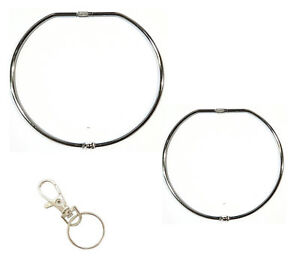Jailers Keyring Large Hinged Key Ring + Swivel Clip 100mm 150mm UK ... d05724969156