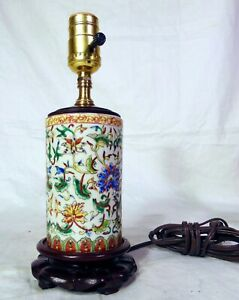Chinese-Porcelain-Cylinder-Accent-table-Lamp-1-Boudoir-Night-Light