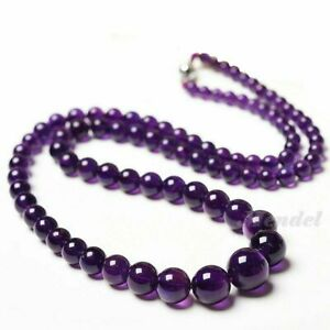 Natural-Amethyst-Bead-Necklace-Healing-Crystal-Quartz-Real-Gemstone-Jewelry-Box