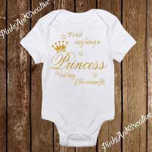 a24ab254804a3 Details about Princess If the Crown Fits Onesies - Cute Baby Girl Clothes -  Bodysuit - Infant