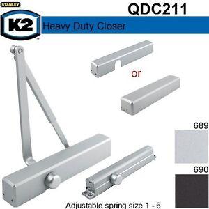 Stanley K2 Commercial Door Closer QDC211 (Dark Bronze) / 8301