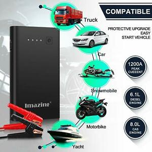 Details About 2500a 1000a Peak 12000 Safety Portable Car Cables Jump Starter Battery Booster