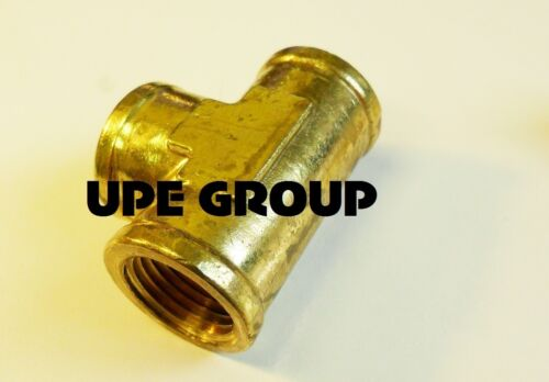 """BRASS FORGED EQUAL TEE FITTING 1//2/"""" FEMALE NPT FNPT AIR FUEL WOG"""