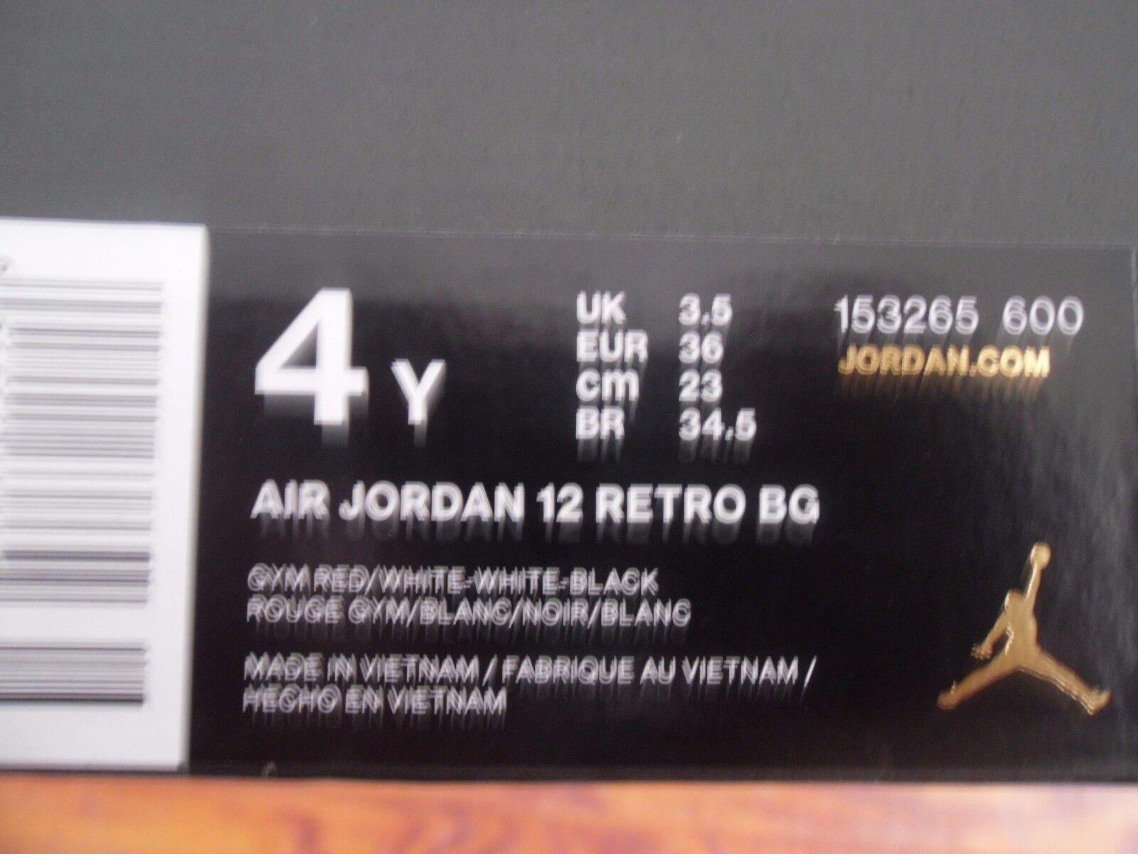 Nike Air Jordan 12 Retro (Bg) (Bg) (Bg) Rojo  alternativo  tamaño 4Y-Para Mujer Talla 5.5 278baf