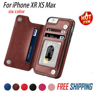 Leather-Slim-Wallet-Credit-Card-Slot-Stand-Cover-Case-for-iPhone-X-7-8-P-XS-M-EN