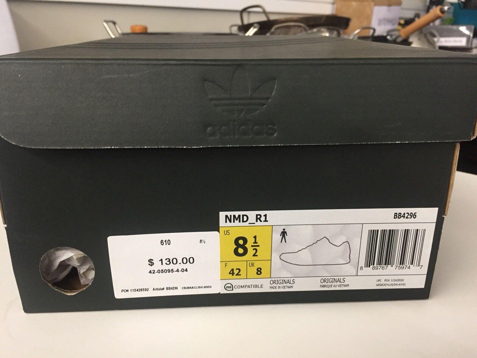 New adidas NMD_XR1 Primeknit Men's  - Size 8.5 D(M) US, Black/White BB4296