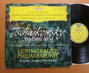LPM-18-657-Tchaikovsky-Symphony-4-Mravinsky-Leningrad-Philharmonic-TULIP-Mono-LP