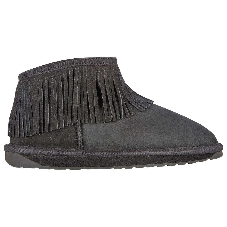 Women's EMU Australia Waterfall Bootie Black Size 10 #NJZ0B-556