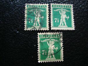 Switzerland-Stamp-Yvert-and-Tellier-N-199-x3-Obl-A7-Stamp-Switzerland