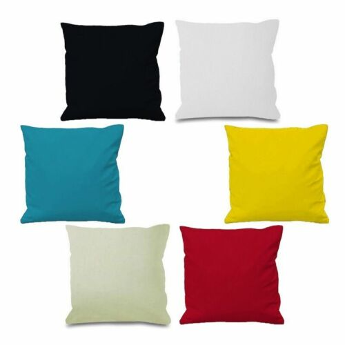 Plain Dyed Cushion Cover 100/% Percale Cotton Pillow Case Home Sofa Dacoration