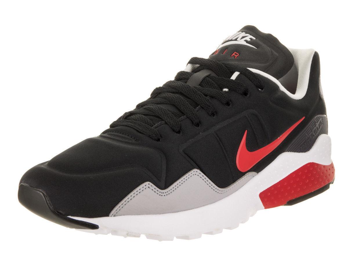 Nike air zoom pegasus 92 uomini in nero / rosso formazione scarpe atomo 844652 004