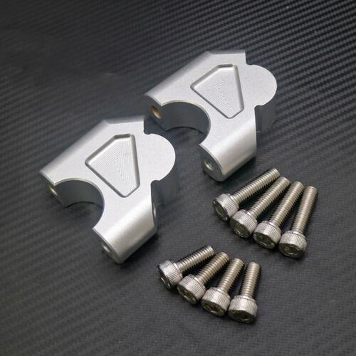 Silver 32mm CNC Machining Handlebar Riser Bar Clamp For BMW R1200GS LC ADV 14-18