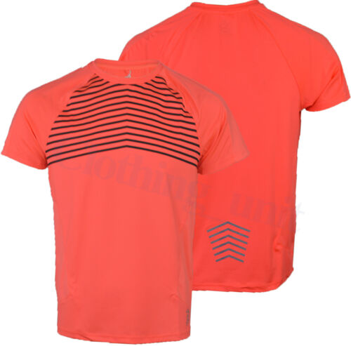Mens Short Sleeved Light Reflective Running//Gym T Shirts Vest Muscle Neon S-XXL