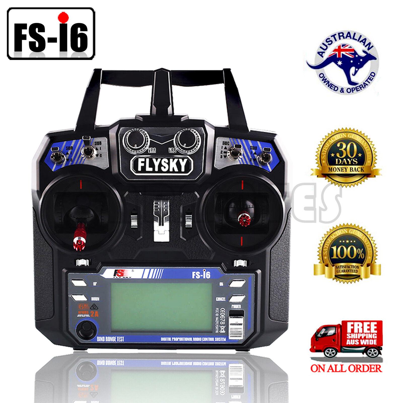 Fs-i6 Flysky 2.4 g 6ch transmisor y receptor para avión RC helicóptero Multicopter