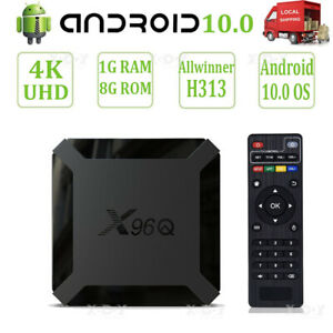X96Q Android 10 4K Smart TV BOX Quad Core HDMI Wifi USB Allwinner H313 UHD Films