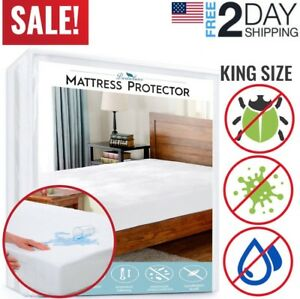 Mattress-Cover-Protector-Waterproof-Pad-King-Size-Bed-Cover-Hypoallergenic