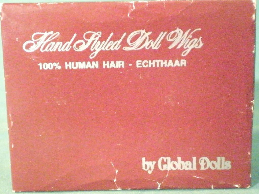 Doll wig  human hair hair hair 8.5  to 10  schwarz short Global Dolls EHP. 22 25 schw. kurz 1abb0a