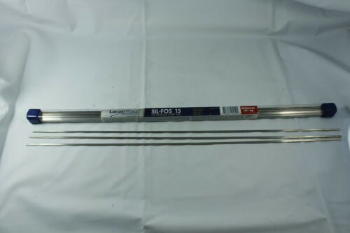 3 Rods Lucas Milhaupt Sil-fos15 Silver Brazing Rod 15/% Silver HVAC Type