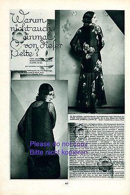 Mode 20er Jahre Bericht 1930 Tala Birell & René Peter Wien Rücken Entzücken + Belebende Durchblutung Und Schmerzen Stoppen